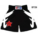 BT29 BLACK SATIN BOXING SHORTS