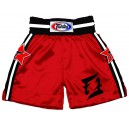 BT18 Red Satin Boxing Shorts